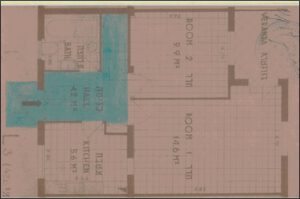 בתמונה: אפשר לראות את זכות המעבר המדוברת (בצבע כחול)